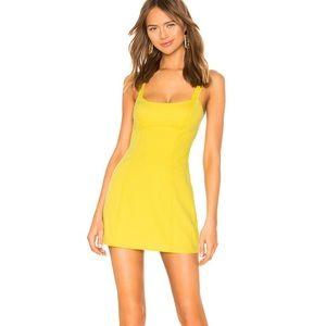 Lovers + Friends Annette Mini Dress Yellow S